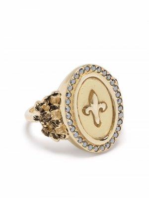 Перстень Fleur de Lys из желтого золота с сапфирами Feidt Paris. Цвет: золотистый