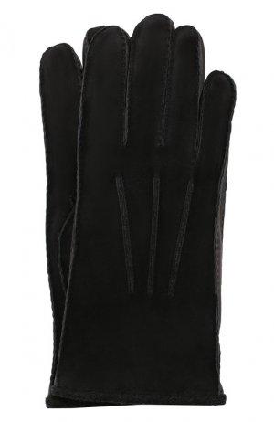 Замшевые перчатки Loro Piana. Цвет: темно-синий