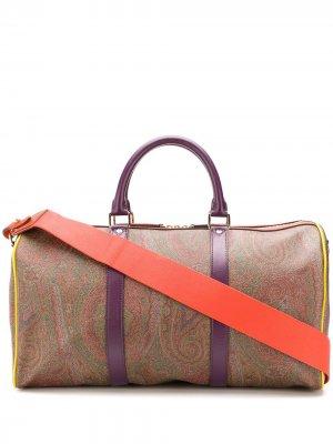Дорожная сумка с принтом пейсли Etro. Цвет: коричневый