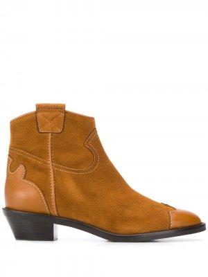 Ботинки в стиле вестерн See by Chloé. Цвет: коричневый