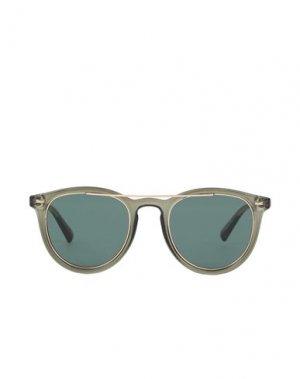 Солнечные очки LE SPECS. Цвет: зеленый-милитари