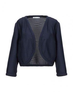 Пиджак GINA BACCONI. Цвет: темно-синий