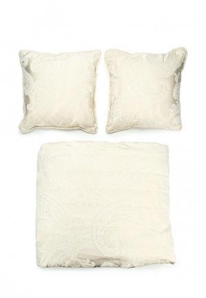 Покрывало с подушками Togas. Цвет: бежевый