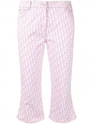 Укороченные джинсы с узором Trotter Christian Dior. Цвет: розовый