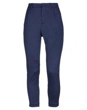 Повседневные брюки PAOLO PECORA. Цвет: темно-синий