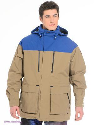 Куртка Analog. Цвет: бежевый, синий