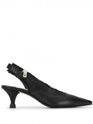 Туфли на низком каблуке с ремешком пятке Premiata. Цвет: черный