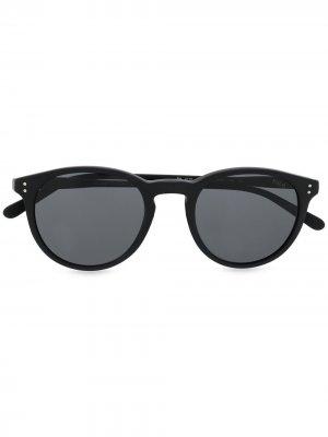 Солнцезащитные очки в круглой оправе Polo Ralph Lauren. Цвет: черный