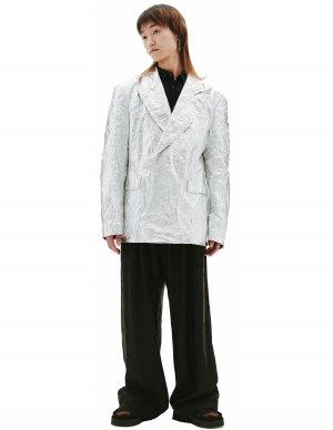Серебристый пиджак Comme des Garcons Homme plus