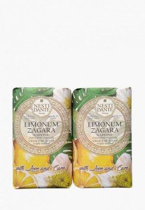 Набор для ухода за телом Nesti Dante Мыло Limonum Zagara / Лимонный цветок, 2*250г. Цвет: разноцветный