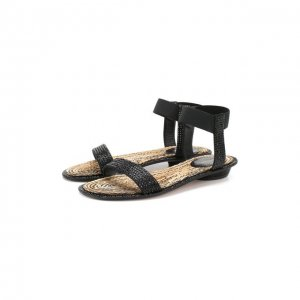 Кожаные сандалии Le Silla. Цвет: чёрный