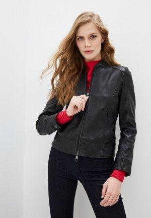 Куртка кожаная Boss C_Sameggy. Цвет: черный