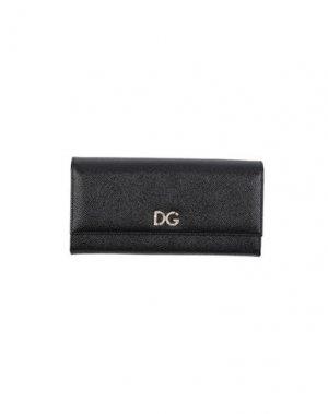 Бумажник DOLCE & GABBANA. Цвет: черный