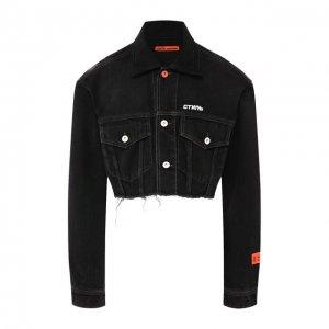 Джинсовая куртка Heron Preston. Цвет: чёрный