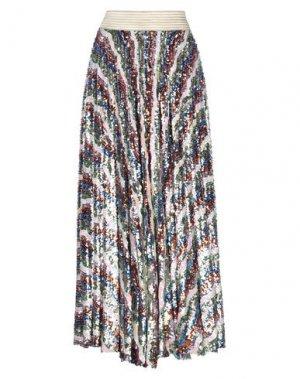 Длинная юбка BABYLON. Цвет: синий