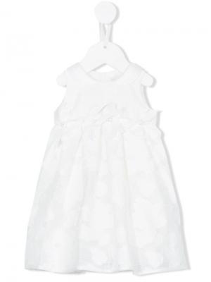 Платье без рукавов Loredana. Цвет: белый