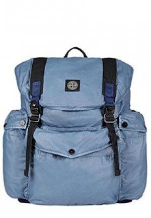 Рюкзак STONE ISLAND. Цвет: синий