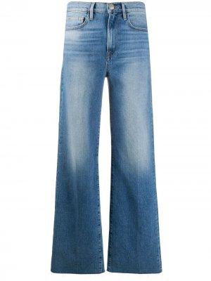 Широкие джинсы Le California Heritage средней посадки FRAME. Цвет: синий
