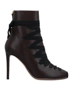 Полусапоги и высокие ботинки ALTUZARRA. Цвет: темно-коричневый