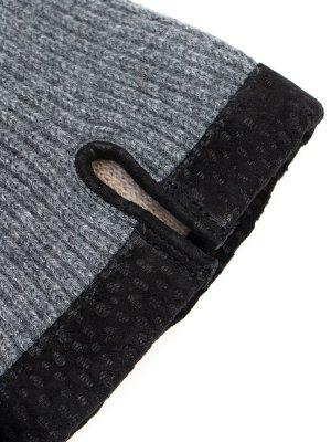 Комбинированные перчатки MONTEVERDI. Цвет: серый