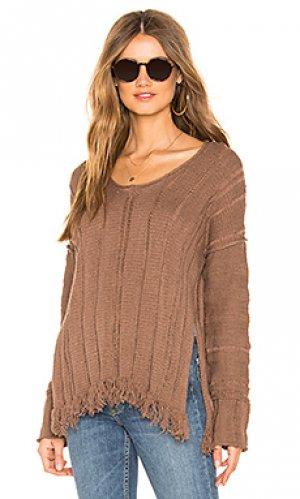 Пуловер ocean drive Free People. Цвет: коричневый