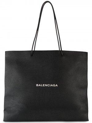 Большая сумка-шоппер North South Balenciaga. Цвет: черный
