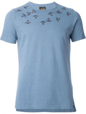 Футболки и жилеты Vivienne Westwood Man. Цвет: синий