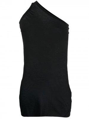 Длинный топ на одно плечо Rick Owens. Цвет: черный