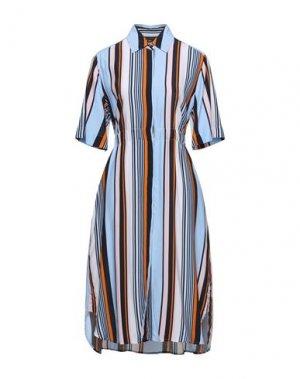 Платье миди FRENCH CONNECTION. Цвет: небесно-голубой