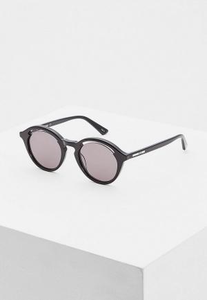 Очки солнцезащитные McQ Alexander McQueen MQ0155S001. Цвет: черный