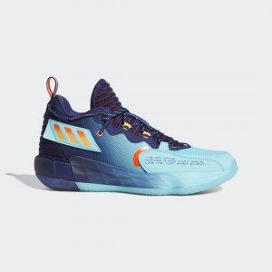 Баскетбольные кроссовки Dame 7 EXTPLY Performance adidas. Цвет: красный