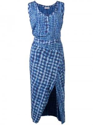 Приталенное платье в клетку Altuzarra. Цвет: синий