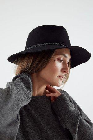 Шляпа PISTON черная BAILEY. Цвет: черный