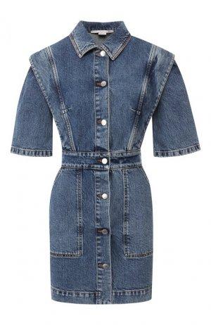 Джинсовое платье Stella McCartney. Цвет: синий