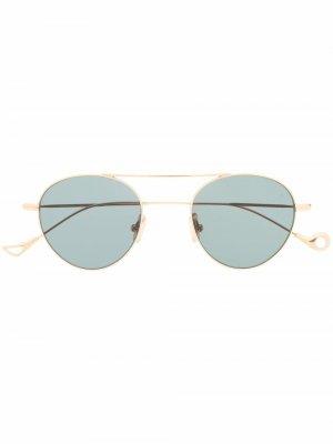 Солнцезащитные очки S.Eularia в круглой оправе Eyepetizer. Цвет: золотистый