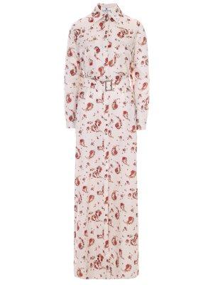 Платье-рубашка хлопковое с принтом LAROOM