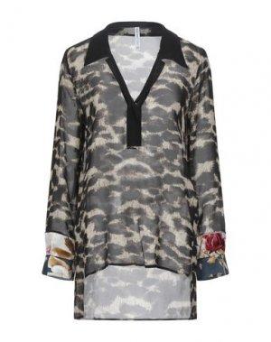 Блузка PIANURASTUDIO. Цвет: черный
