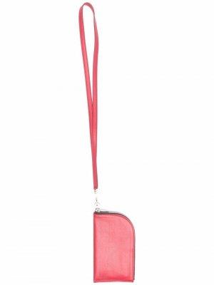 Кошелек с тисненым логотипом Rick Owens. Цвет: красный