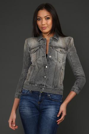 Куртка джинсовая Balmain. Цвет: серый