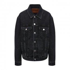 Джинсовая куртка VETEMENTS. Цвет: чёрный