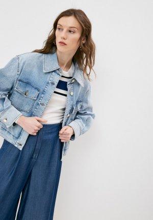 Куртка джинсовая iBlues WALES. Цвет: голубой