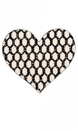 Накладки на соски flash dance heart Bristols6. Цвет: металлический золотой