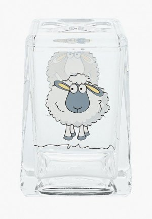 Стакан для зубных щеток Tatkraft ACRYL FUNNY SHEEP. Цвет: прозрачный