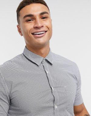 Рубашка с короткими рукавами -Голубой BOSS