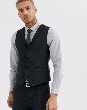 Темно-серый жилет Twisted Tailor