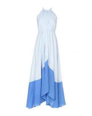 Длинное платье SALONI. Цвет: небесно-голубой