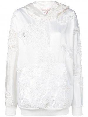 Худи Wedding с вышивкой A.F.Vandevorst. Цвет: белый