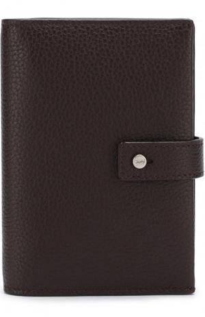 Кожаное портмоне с футляром для кредитных карт Saint Laurent. Цвет: бордовый