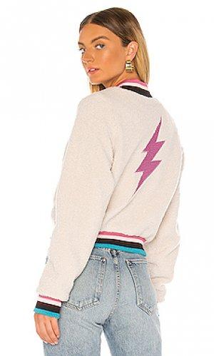 Куртка бомбер Spiritual Gangster. Цвет: кремовый