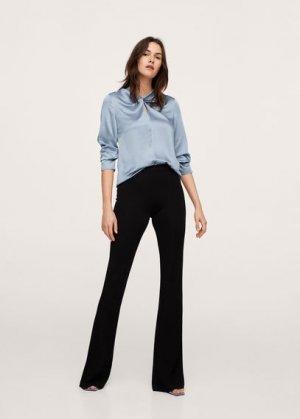 Блузка с узлом - Giulia3-a Mango. Цвет: морская волна